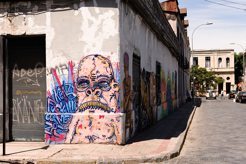 Street Art in Barrio Brazil, Santiago.