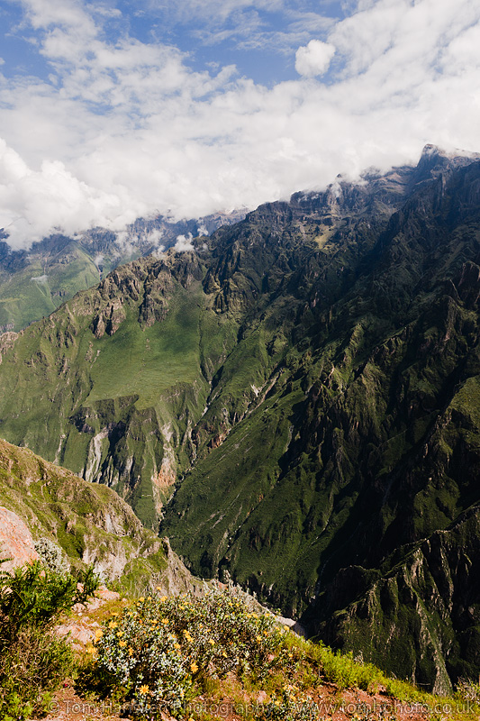 Mirador Cruz del Condor in Colca Canyon north of Arequipa.